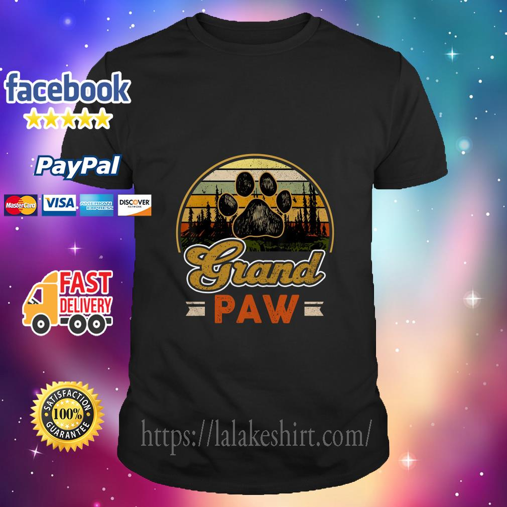 Vintage Grand paw dog lover shirt