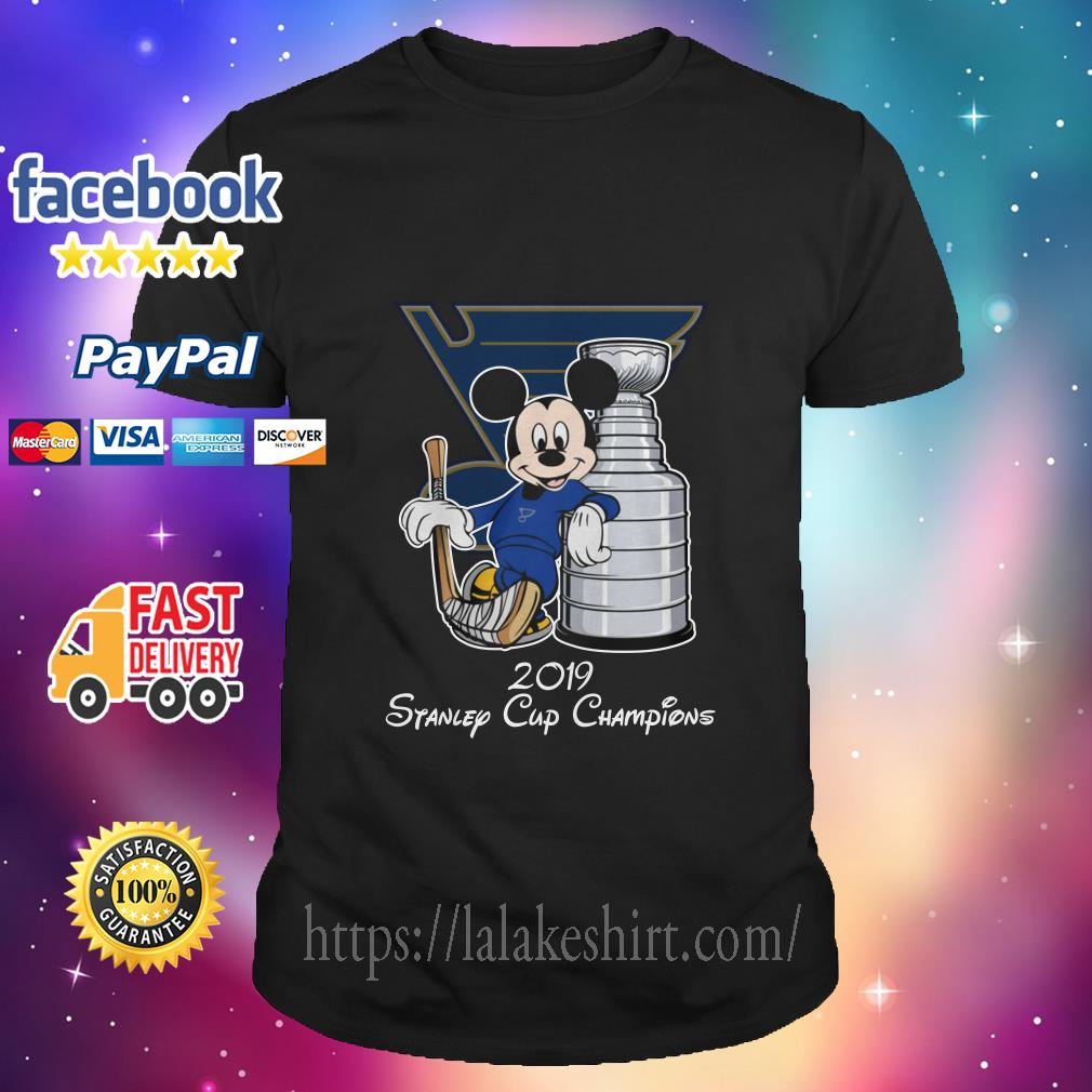 Mickey St. Louis Blues with the Stanley Cup Hockey NHL shirt