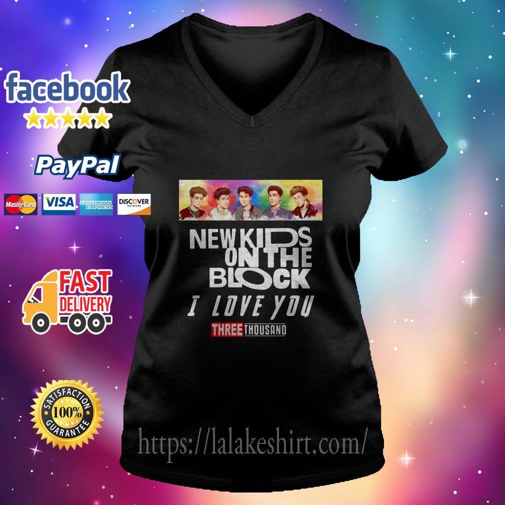 New Kids On the Block I love you three thousand v neck t shirt