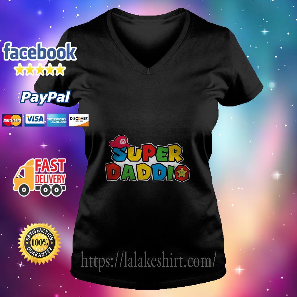 Super Daddio v neck t shirt