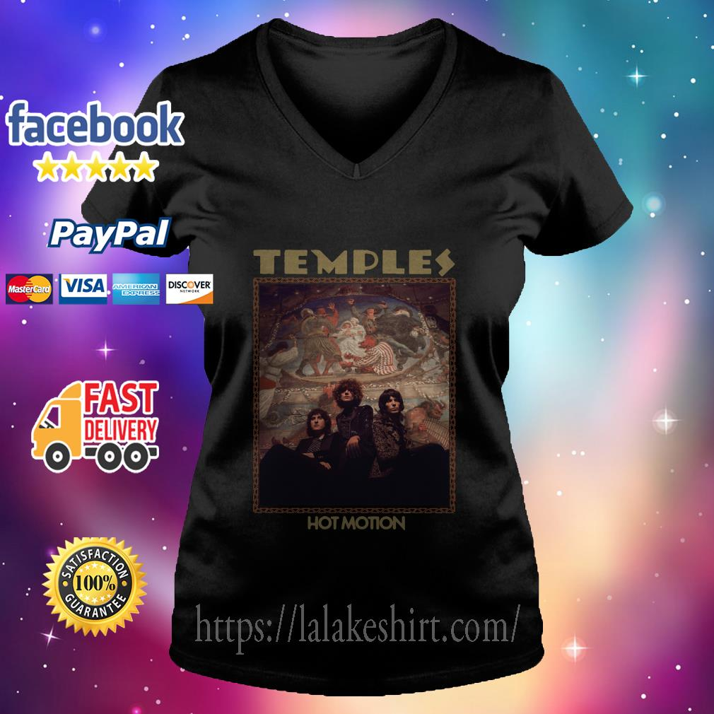 Temples Hot Motion v neck t shirt