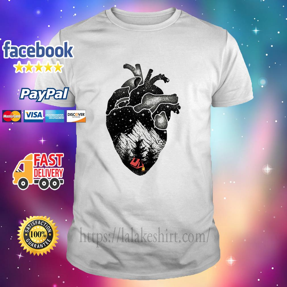 The landscape's inside the Heart shirt