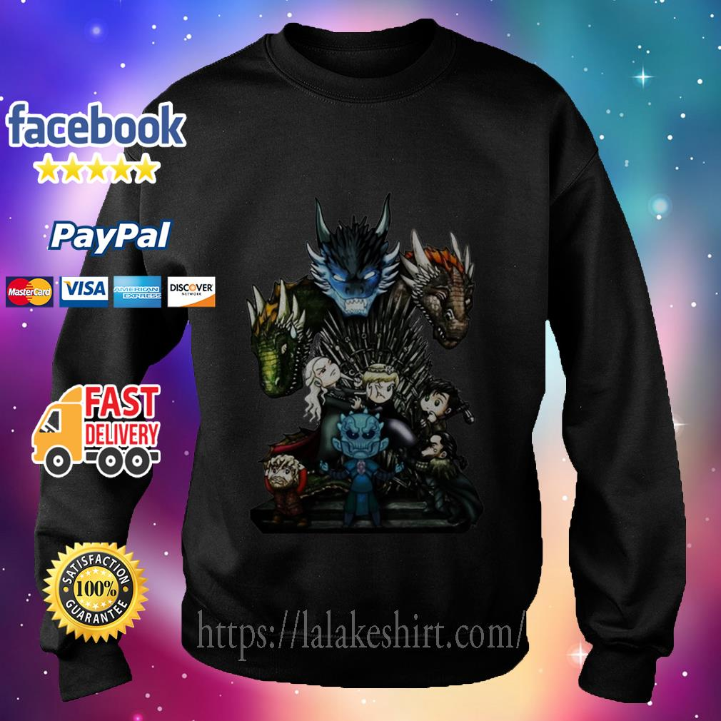Who Will Be The King Game of Thrones Chibi sweater