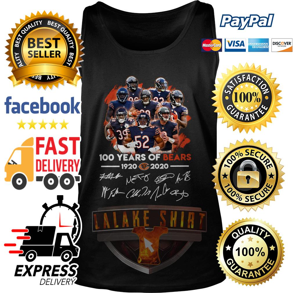 100 years of Chicago Bears 1920 2020 signature tank top