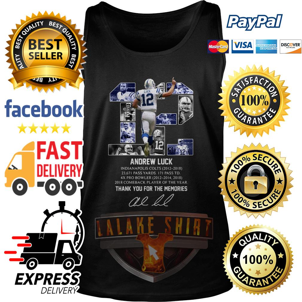 12 Andrew luck thank you for the memories signature tank top