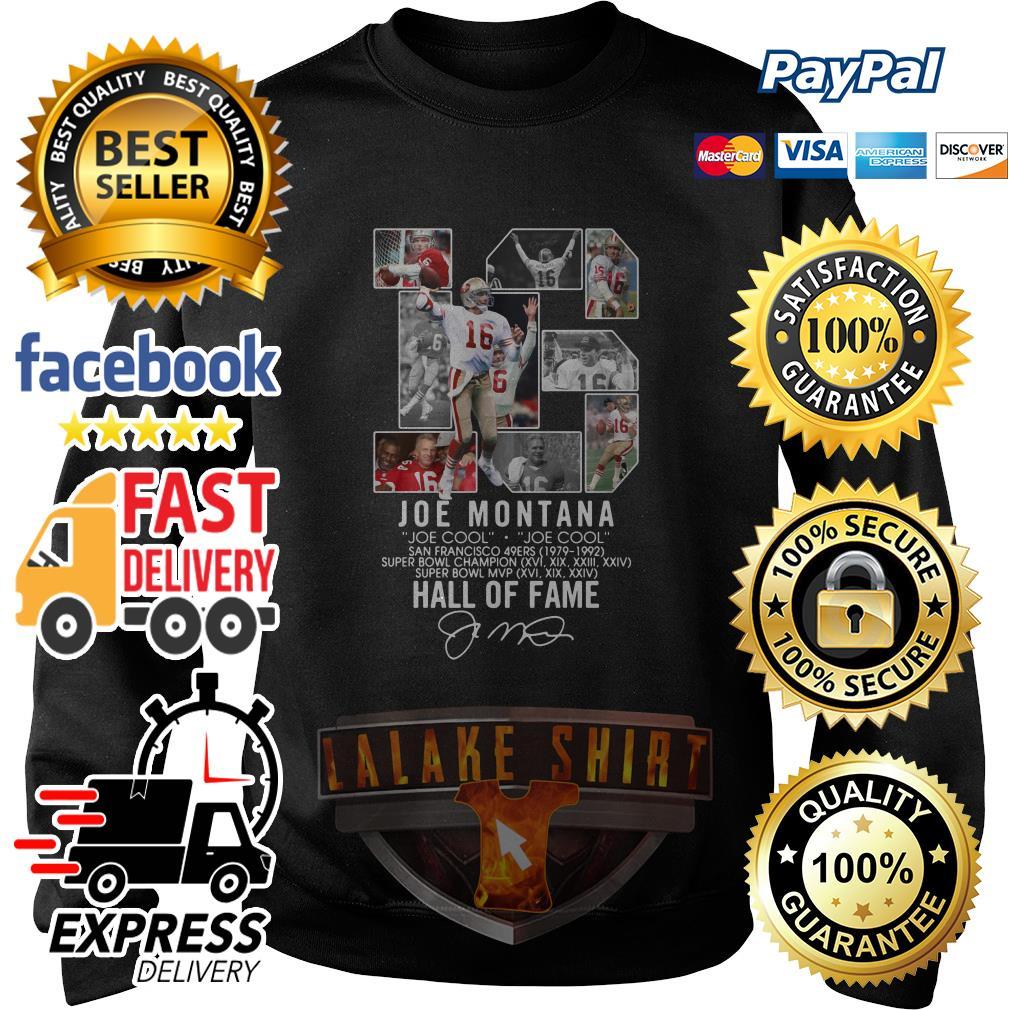 16 Joe Montana Joe cool San Francisco 49ers 1979 1992 Hall of fame sweater