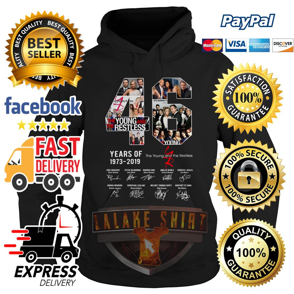 46 years of 1973 2019 the Young and the restless signature hoodie