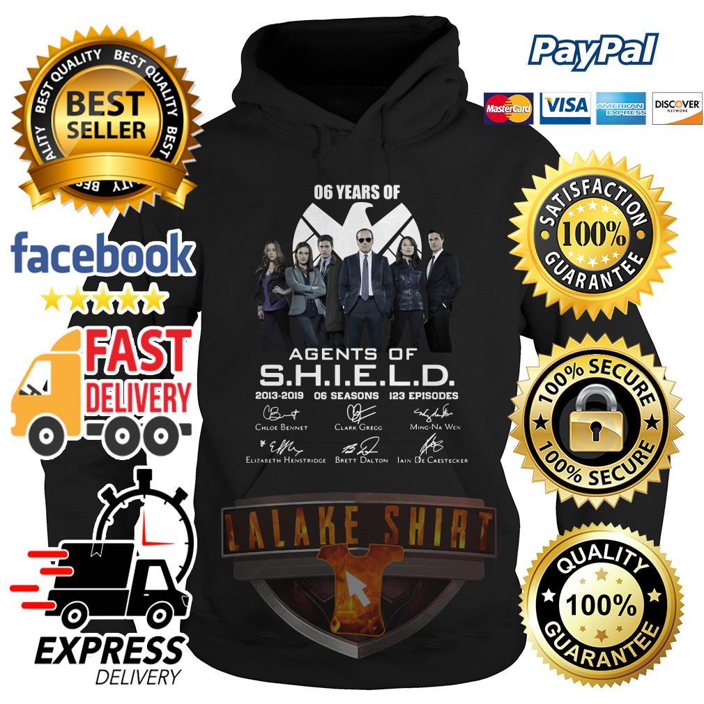 6 years of Agents Of SHIELD 2013 2019 hoodie