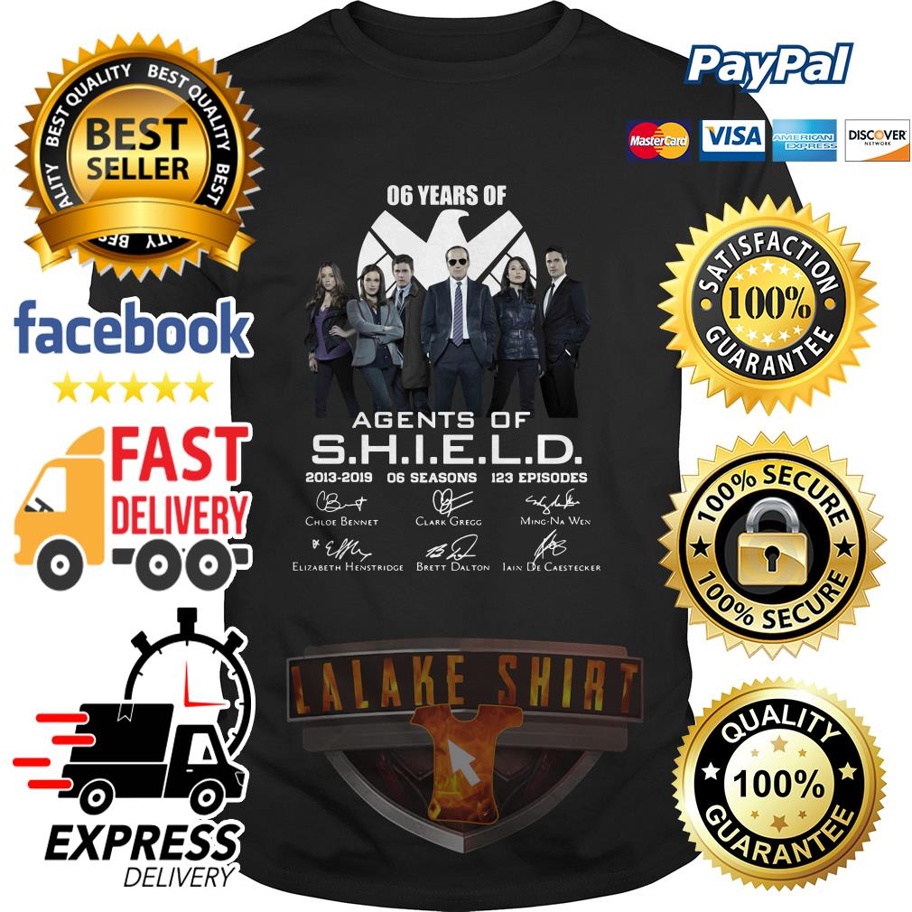 6 years of Agents Of SHIELD 2013 2019 shirt