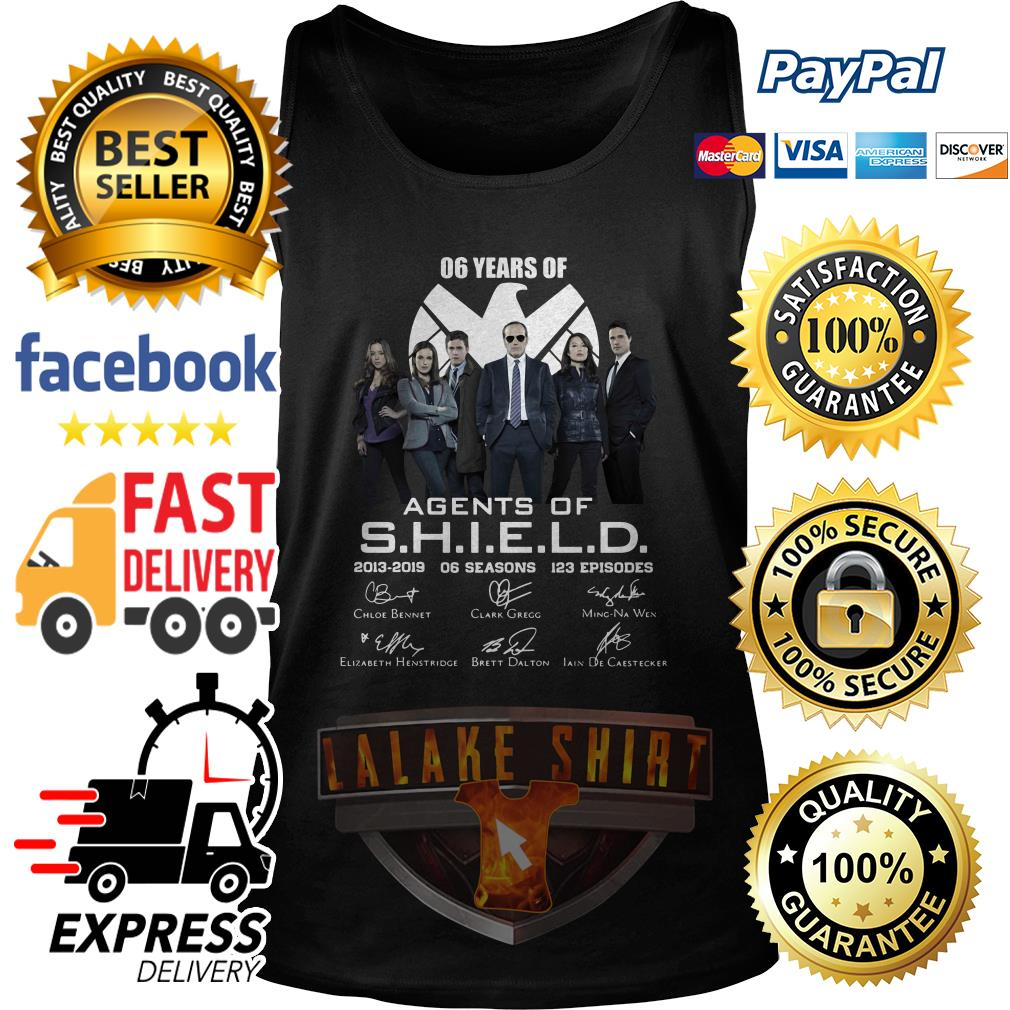 6 years of Agents Of SHIELD 2013 2019 tank top