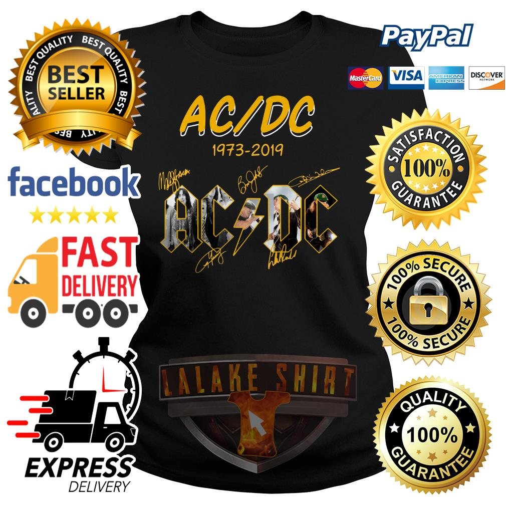 ACDC 1973 2019 signature ladies tee