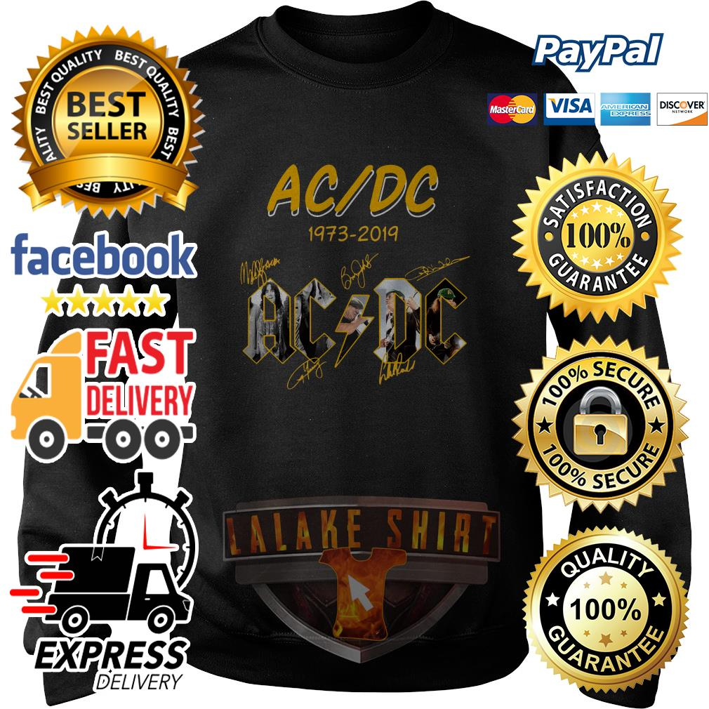 ACDC 1973 2019 signature sweater