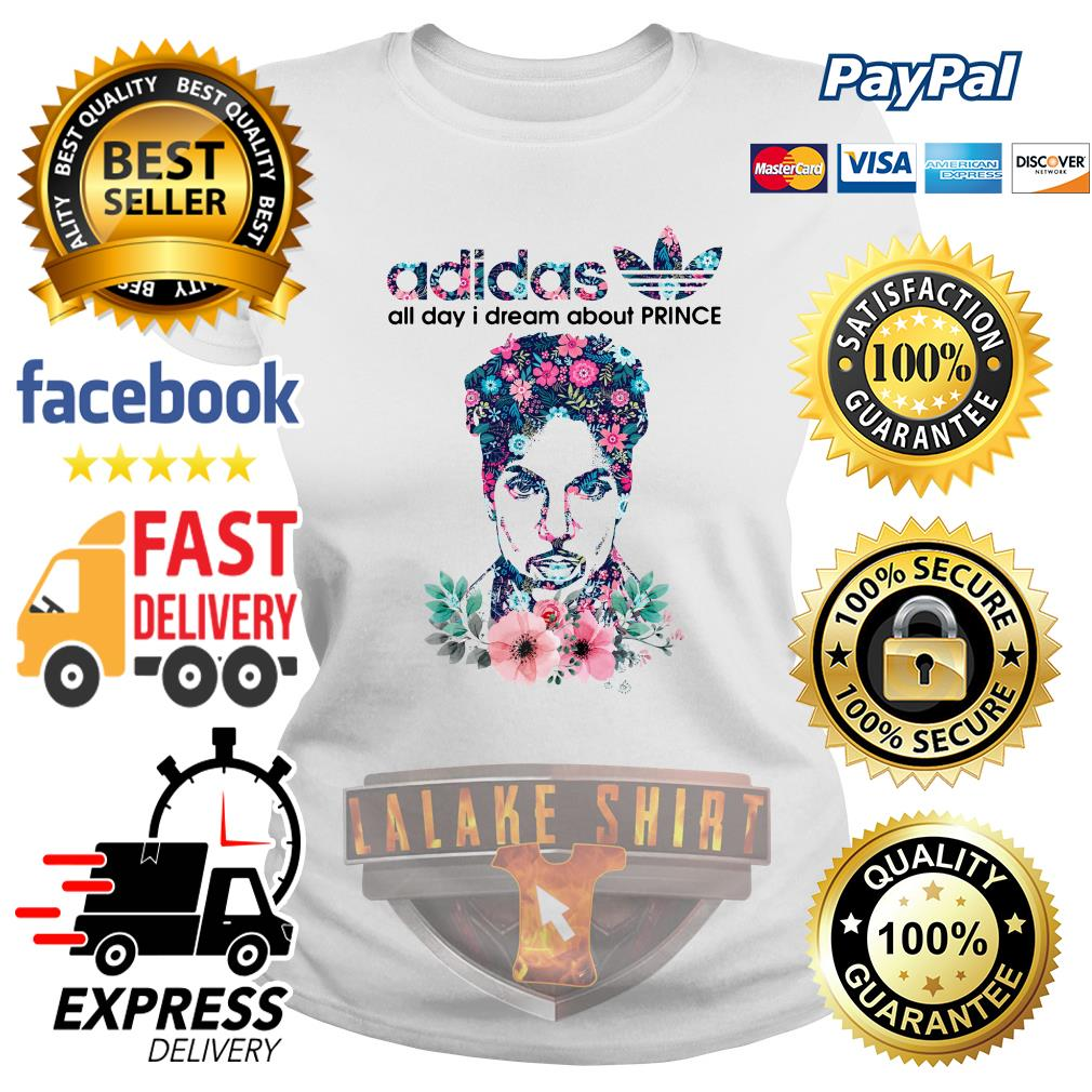 Adidas all day I dream about Prince Rogers Nelson ladies tee