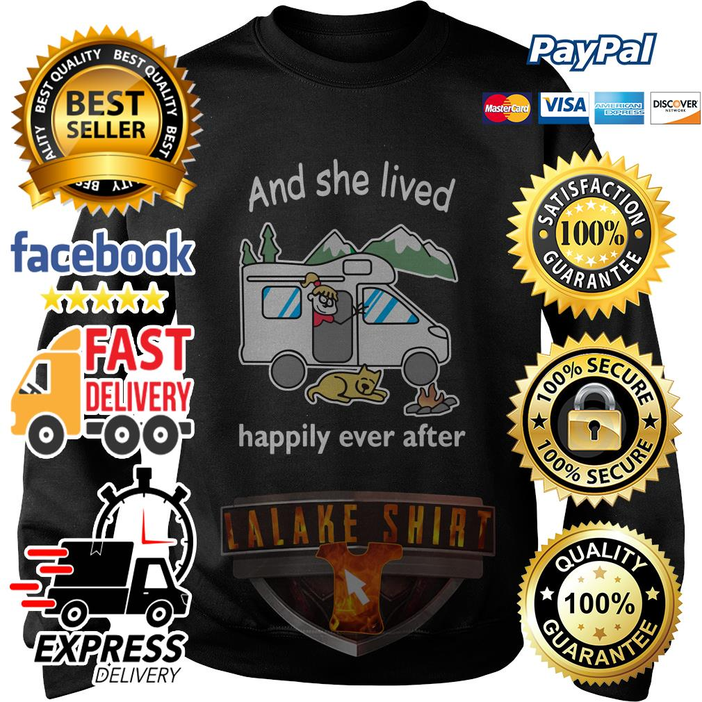 And she lived happily ever after camping sweater