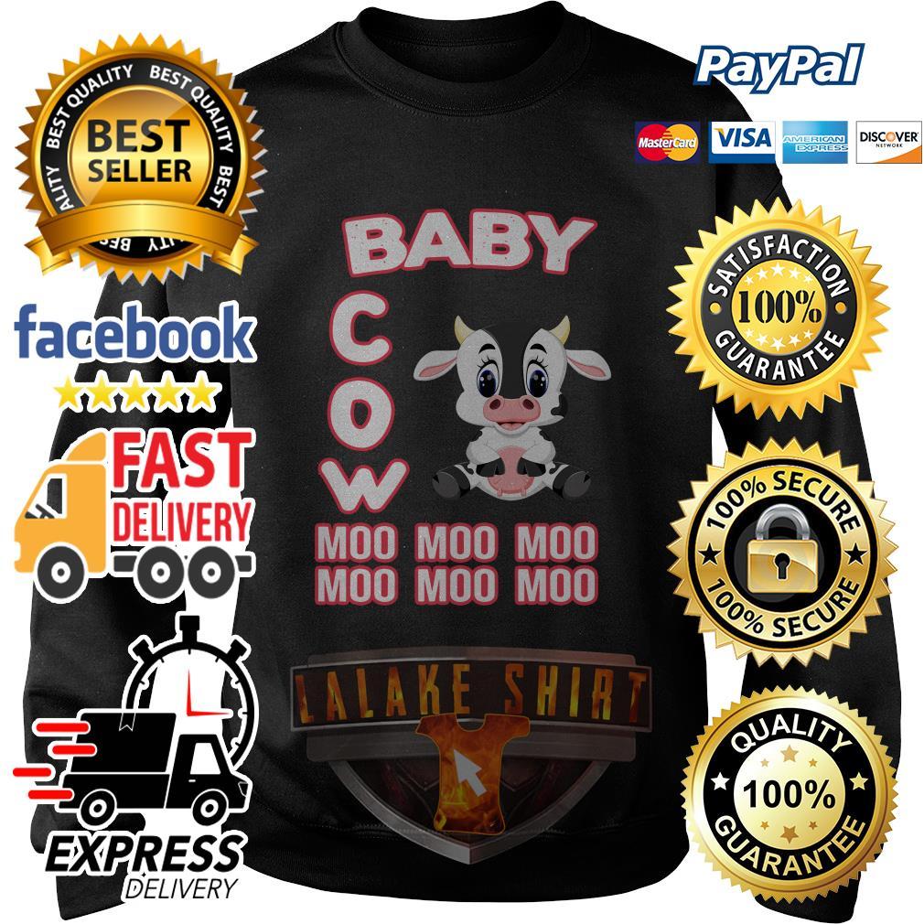 Baby cow moo moo moo moo moo moo sweater