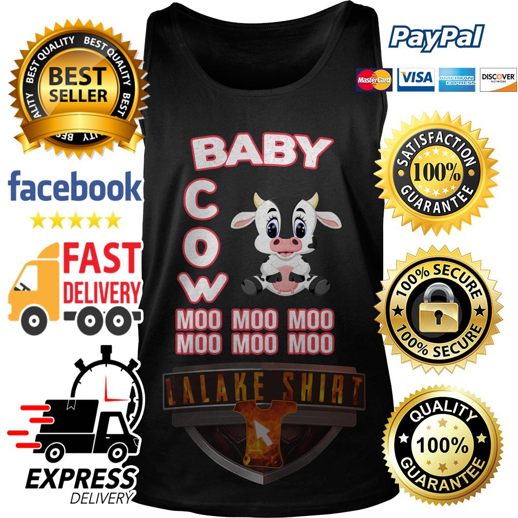Baby cow moo moo moo moo moo moo tank top