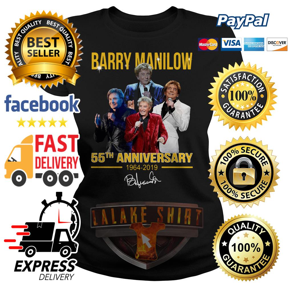 Barry manilow 55th anniversary 1964 2019 ladies tee