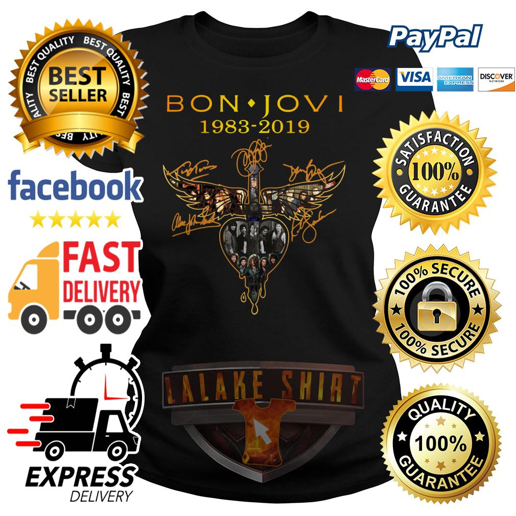 Bon Jovi 1983 2019 signature ladies tee
