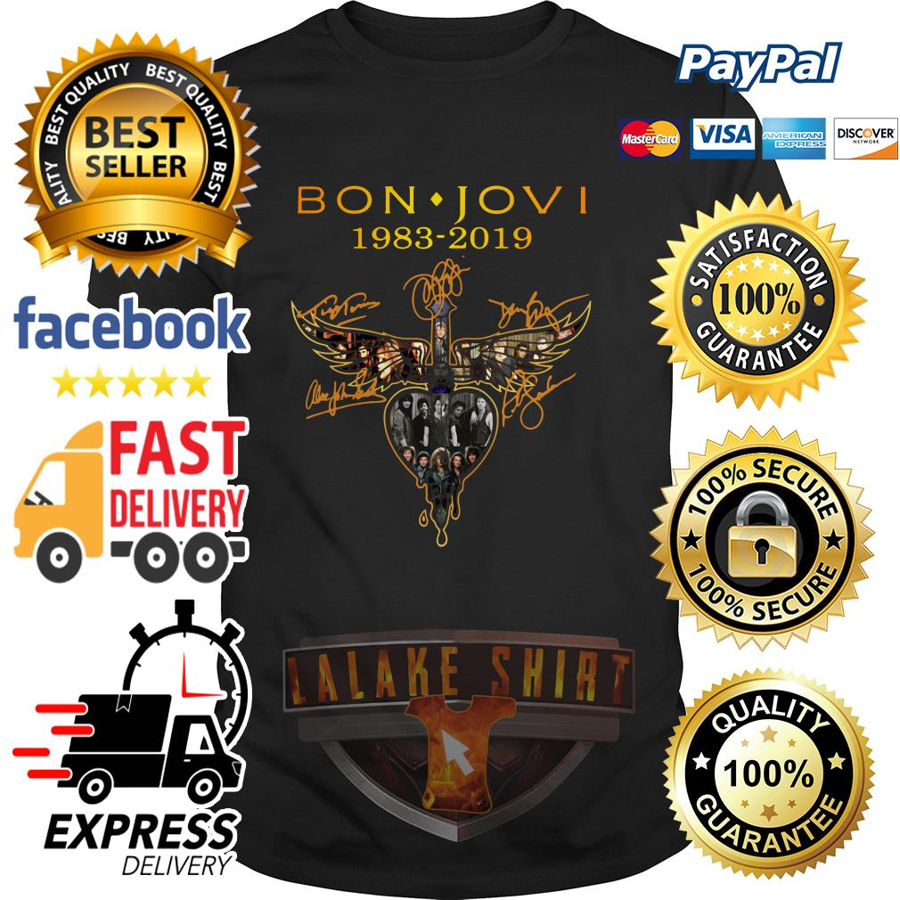Bon Jovi 1983 2019 signature shirt