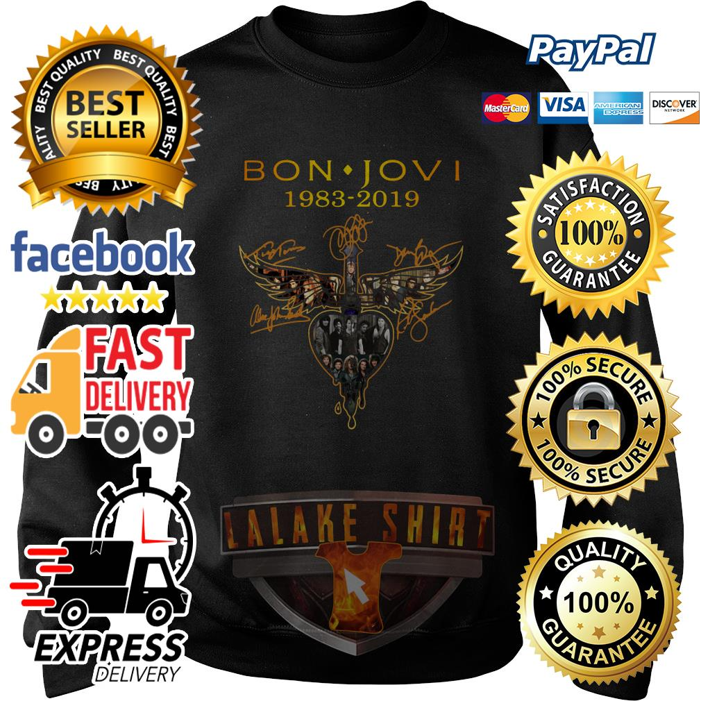 Bon Jovi 1983 2019 signature sweater