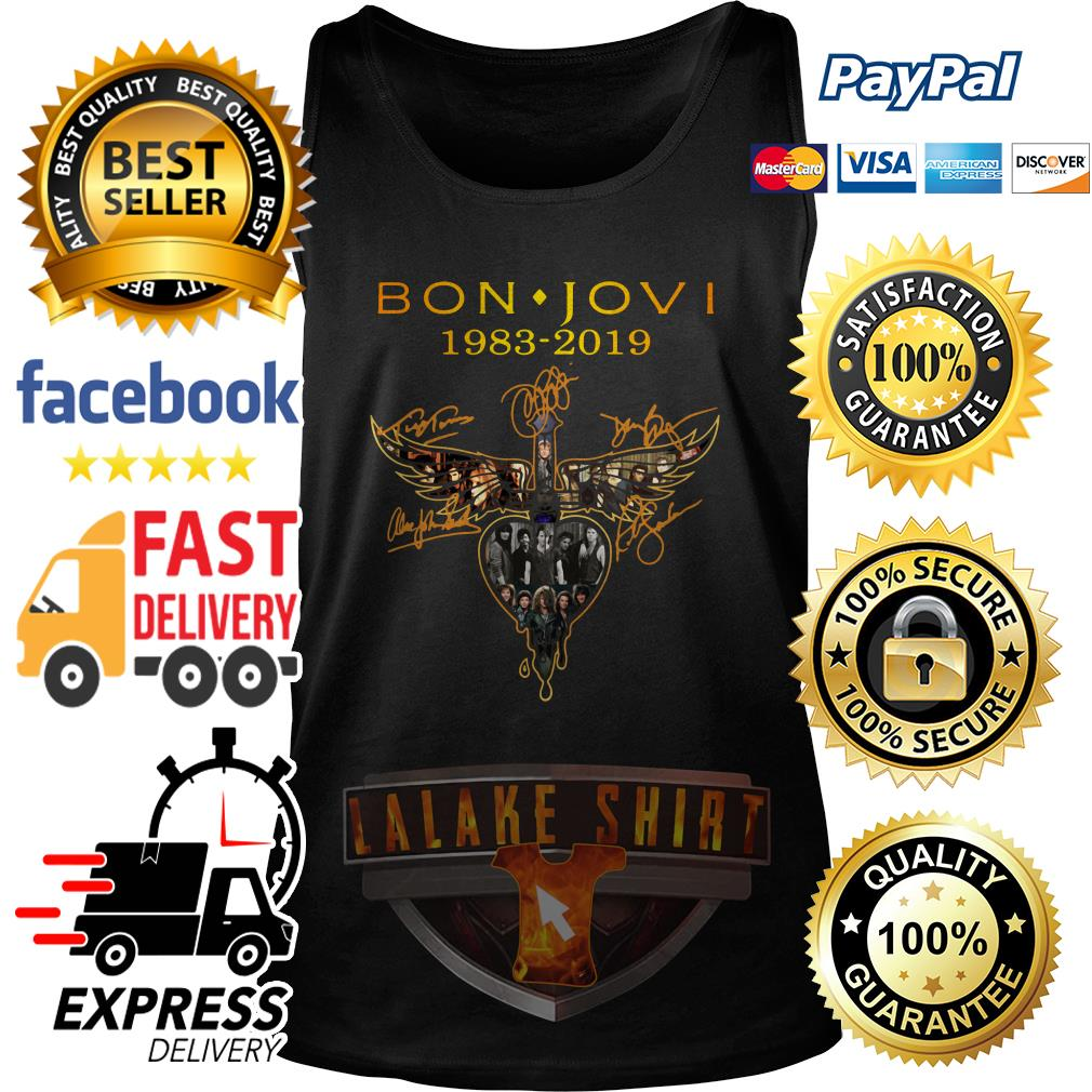 Bon Jovi 1983 2019 signature tank top