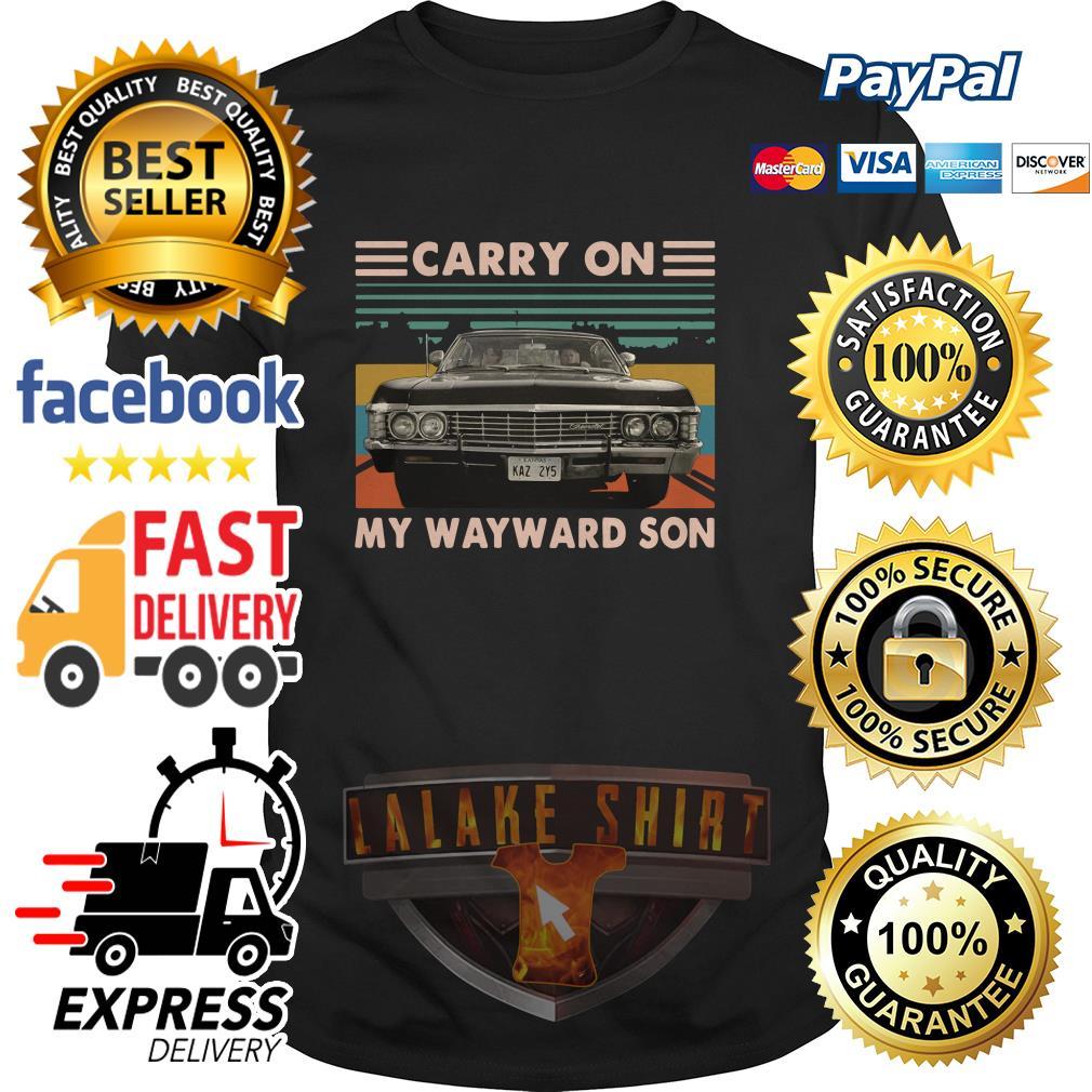 Carry on my wayward son car vintage shirt