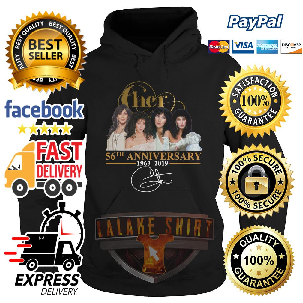 Cher 56th anniversary 1963 2019 signature hoodie