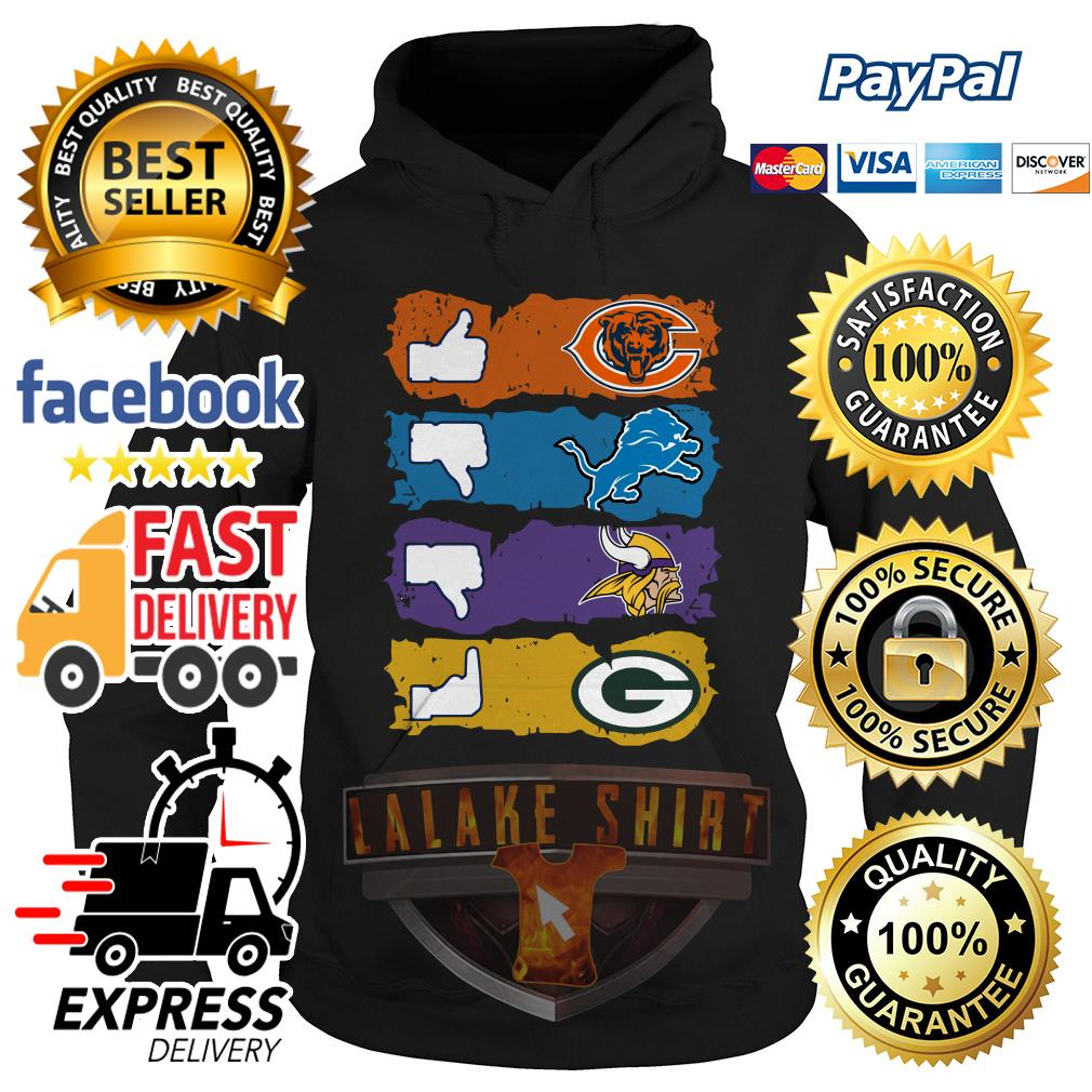 Chicago Bears Minnesota Vikings Detroit Lions and Green Bay Packers hoodie