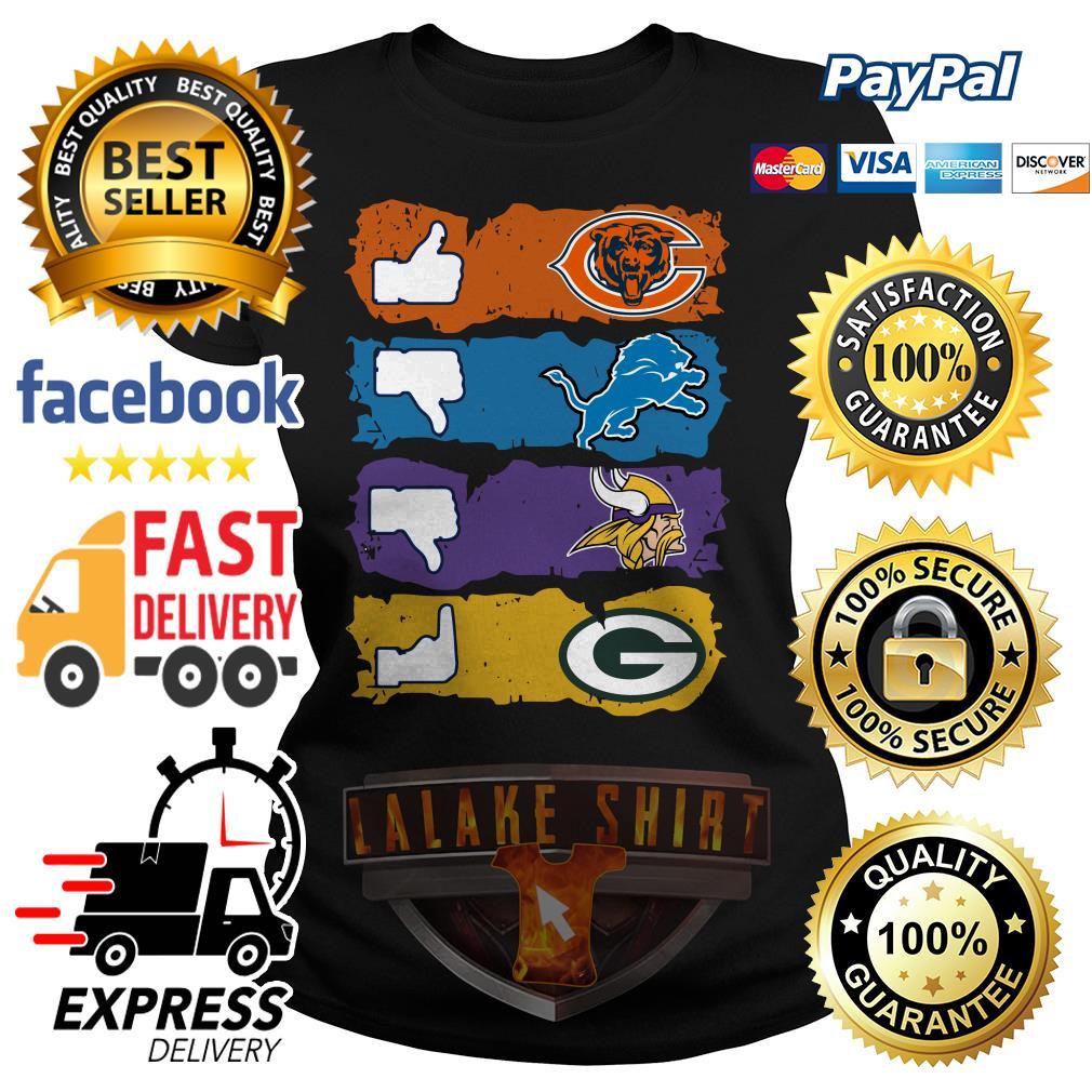 Chicago Bears Minnesota Vikings Detroit Lions and Green Bay Packers ladies tee