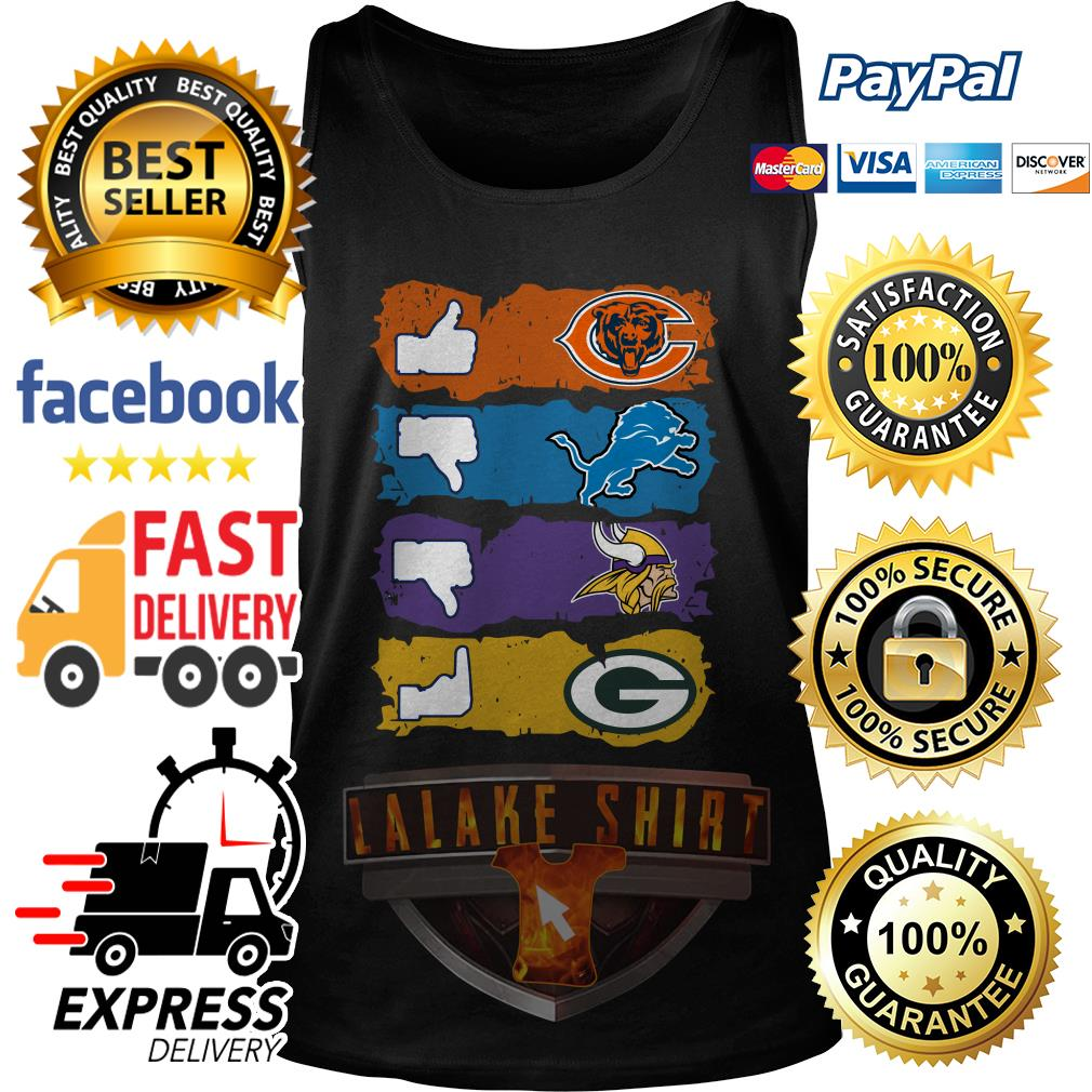 Chicago Bears Minnesota Vikings Detroit Lions and Green Bay Packers tank top