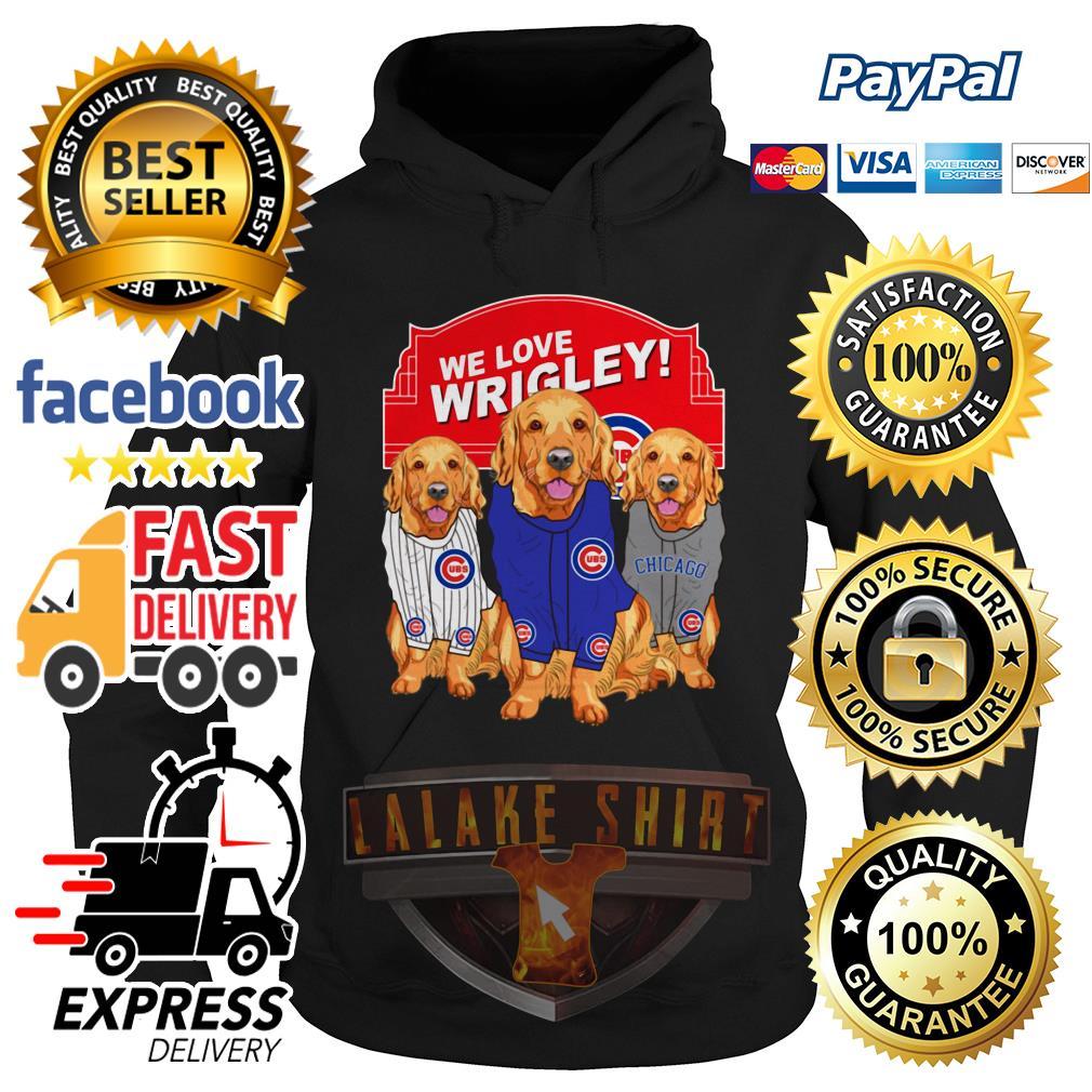 Chicago Cubs Golden Retriever We Love Wrigley hoodie