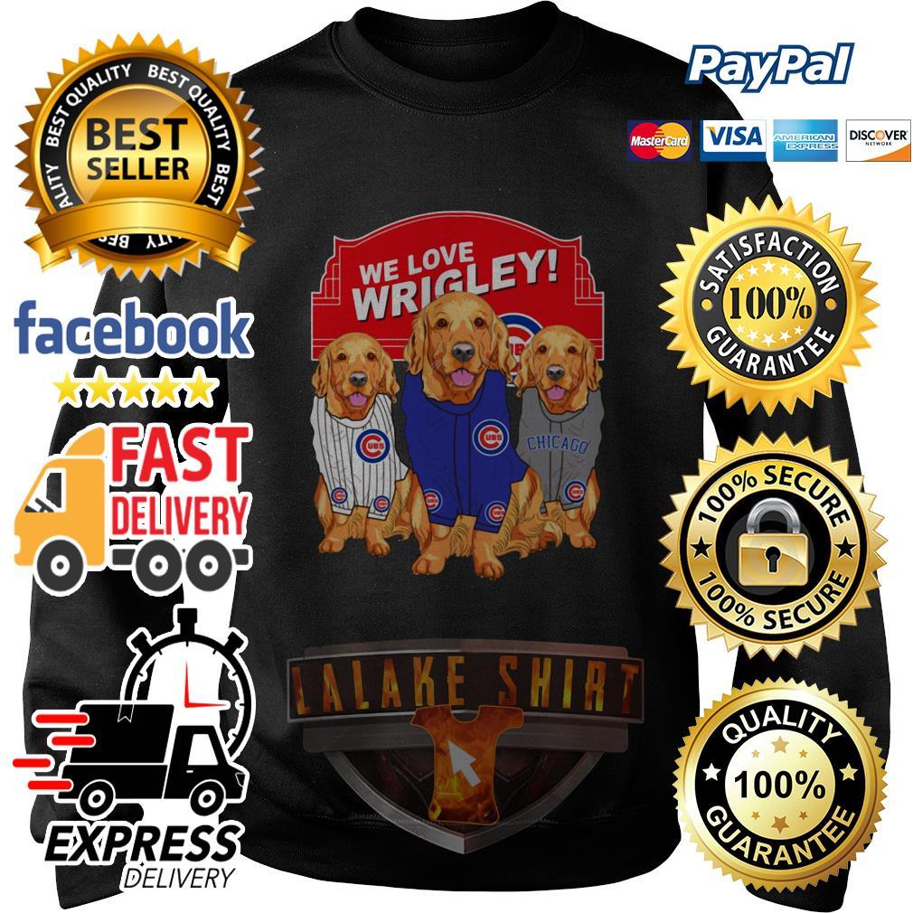 Chicago Cubs Golden Retriever We Love Wrigley sweater
