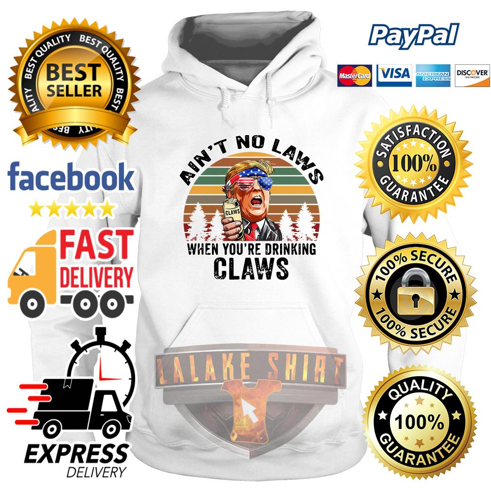 Donald Trump ain't no laws when youre drinking claws vintage hoodie