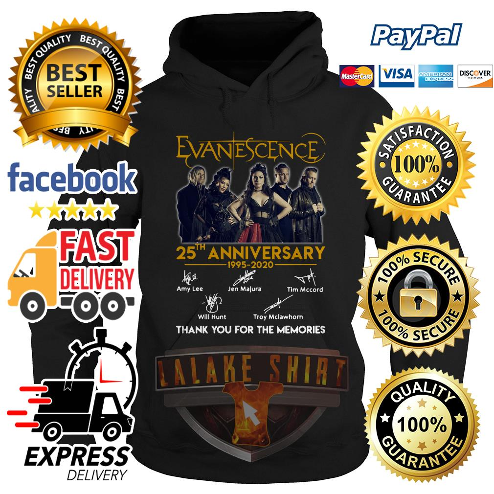 Evanescence 25th anniversary 1995 2020 thank you for the memories hoodie