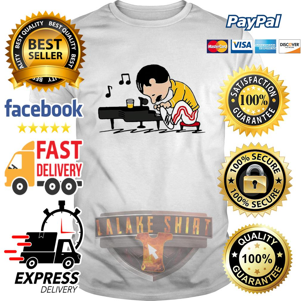 Freddie Mercury in the form of Schroeder playing piano shirt