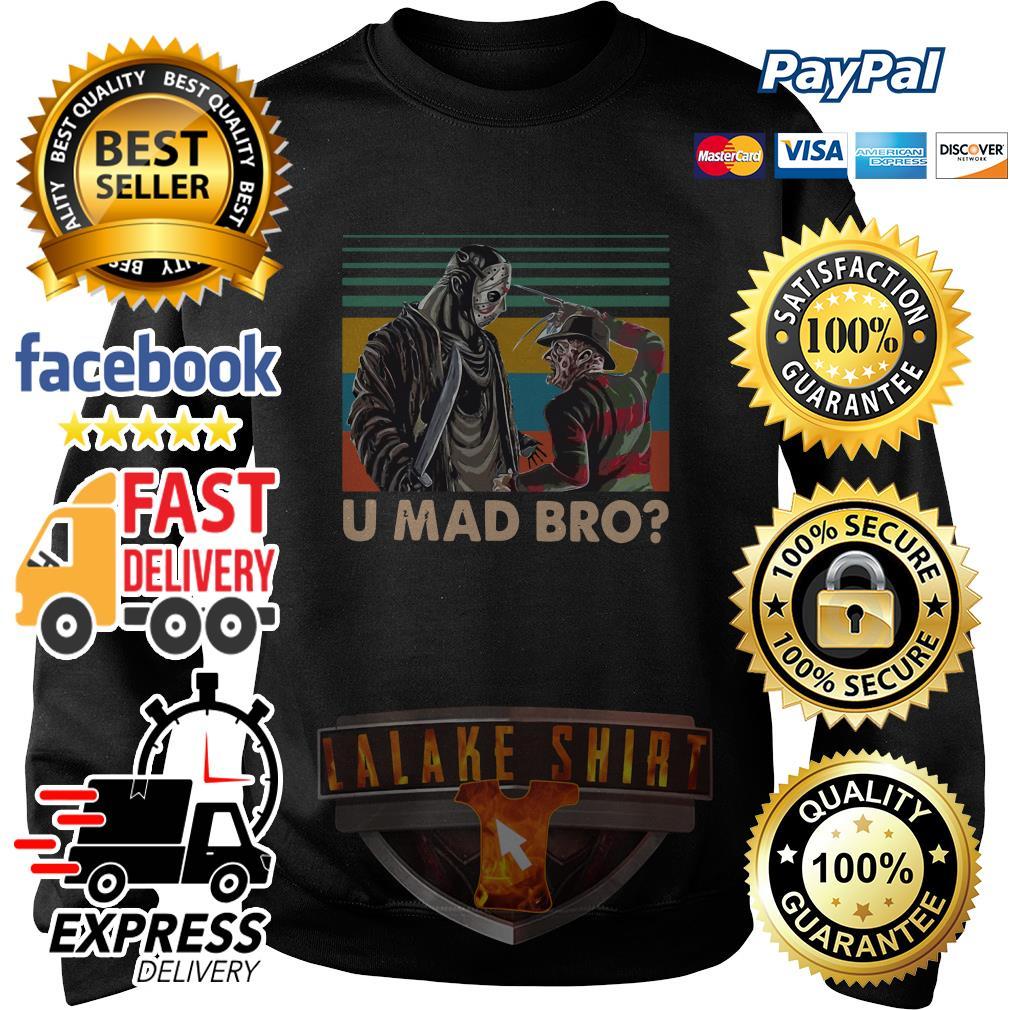 Freddy Krueger and Jason Voorhees U Mad Bro Vintage shirt