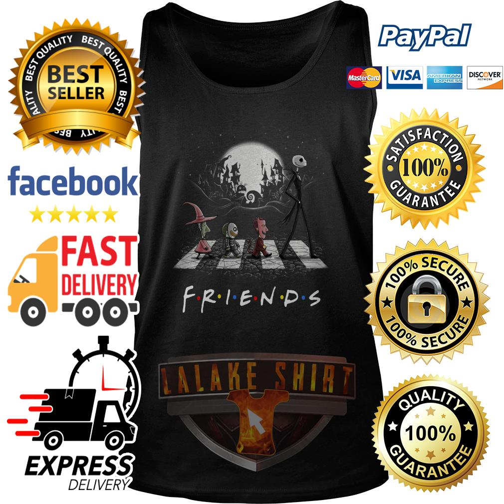 Friends TV show The Nightmare Before Christmas Abbey Road Halloween tank top