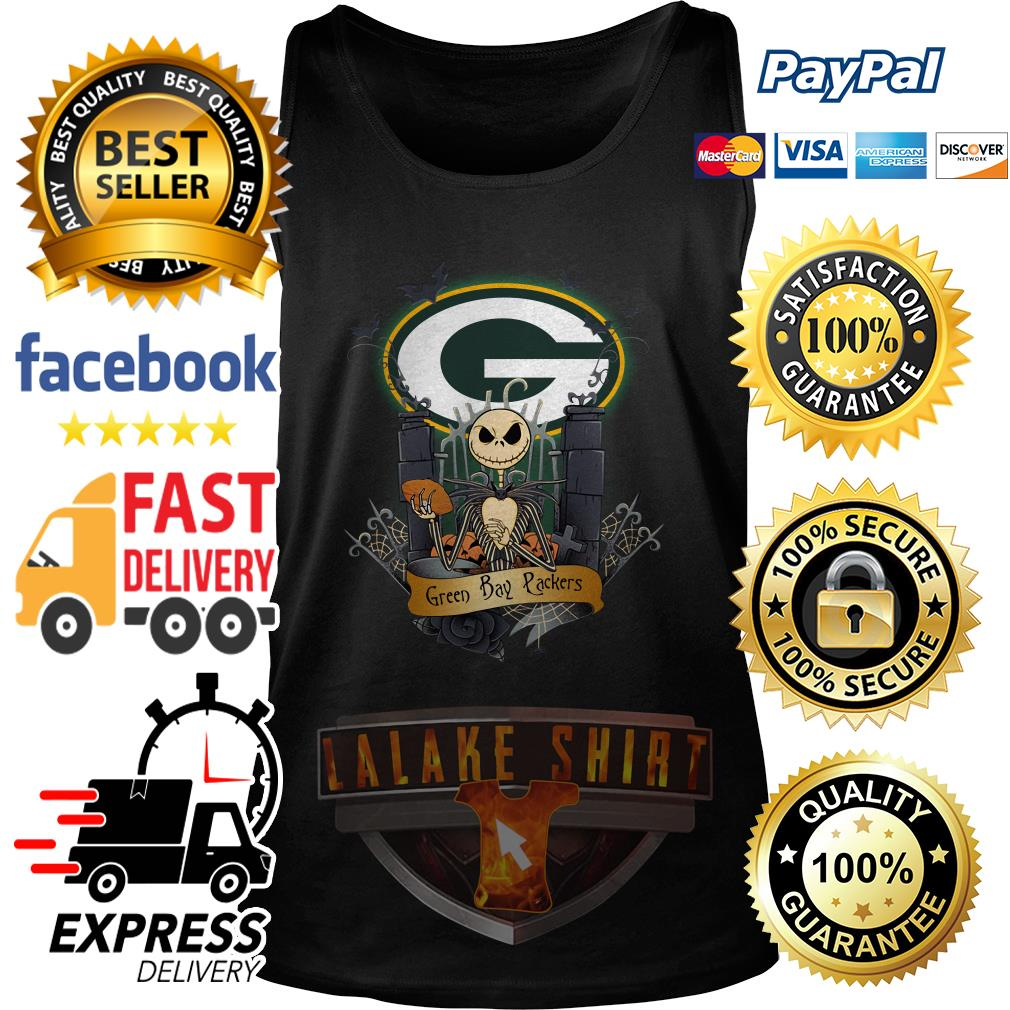 Green Bay Packers Jack Skellington this is Halloween NFL tank top