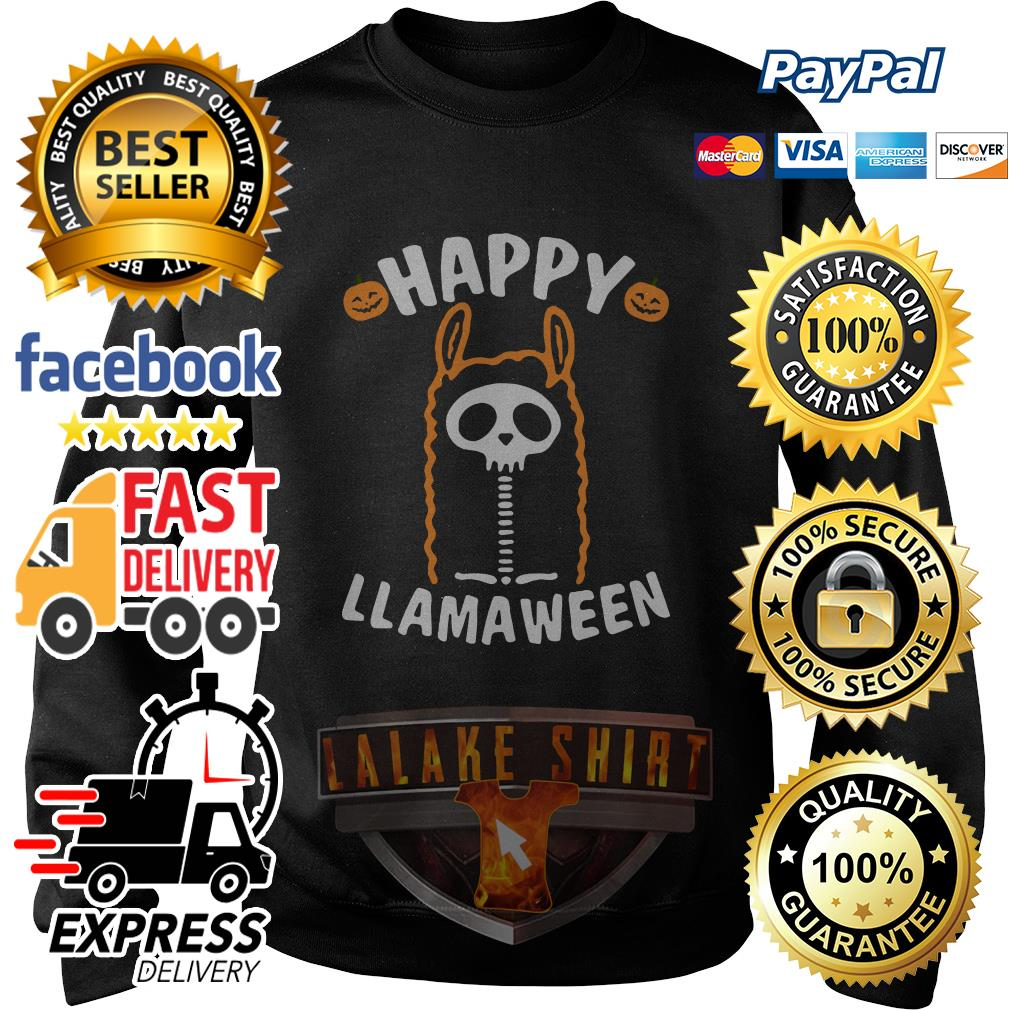 Happy Llamaween Halloween sweater