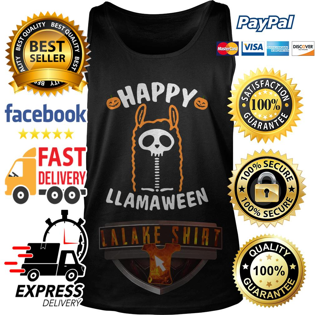 Happy Llamaween Halloween tank top