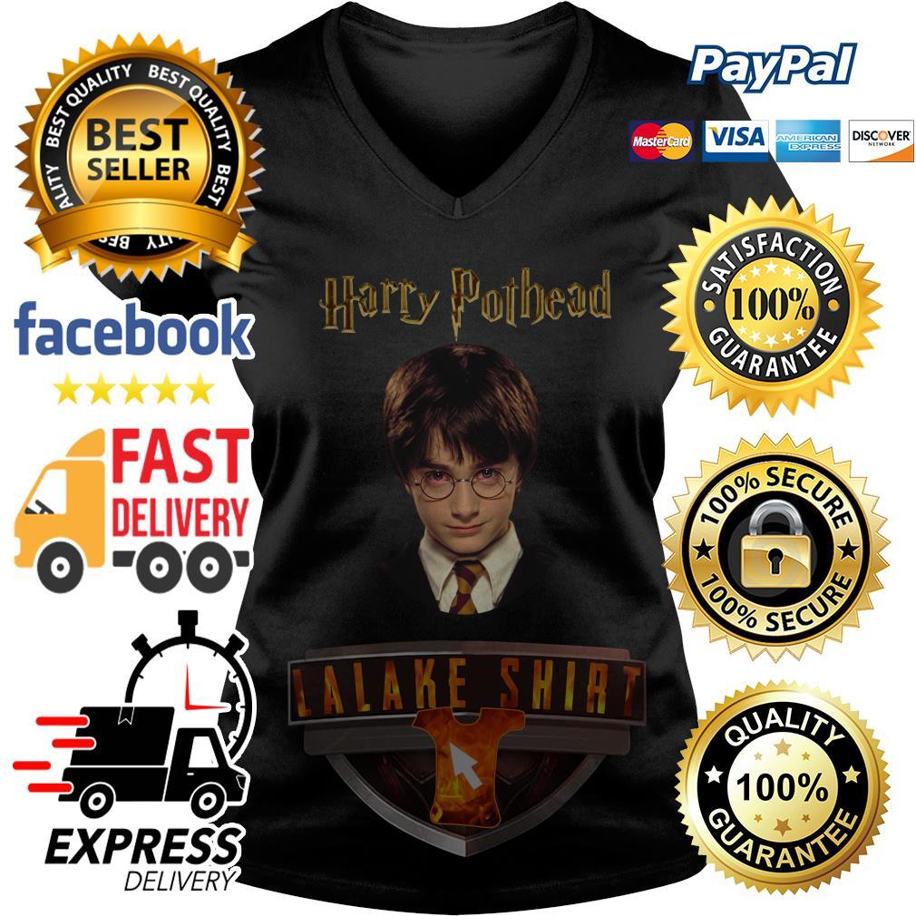 Harry Pothead Harry Potter V neck T-shirt