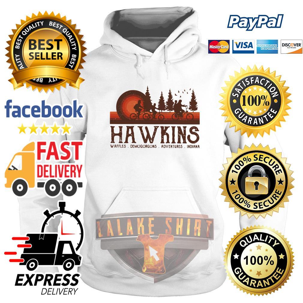 Hawkins Waffles Demogorgons Adventures Indiana Stranger Things hoodie