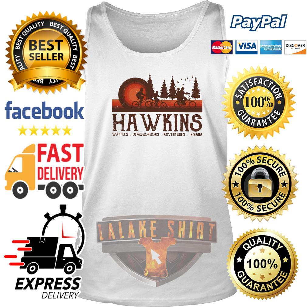 Hawkins Waffles Demogorgons Adventures Indiana Stranger Things tank top