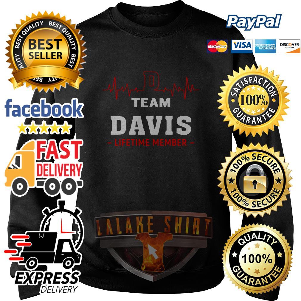 Heartbeat team Davis lifetime member sweater