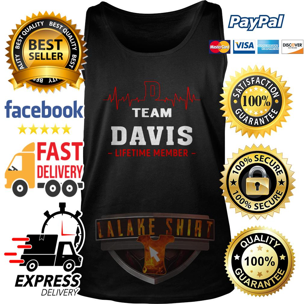 Heartbeat team Davis lifetime member tank top