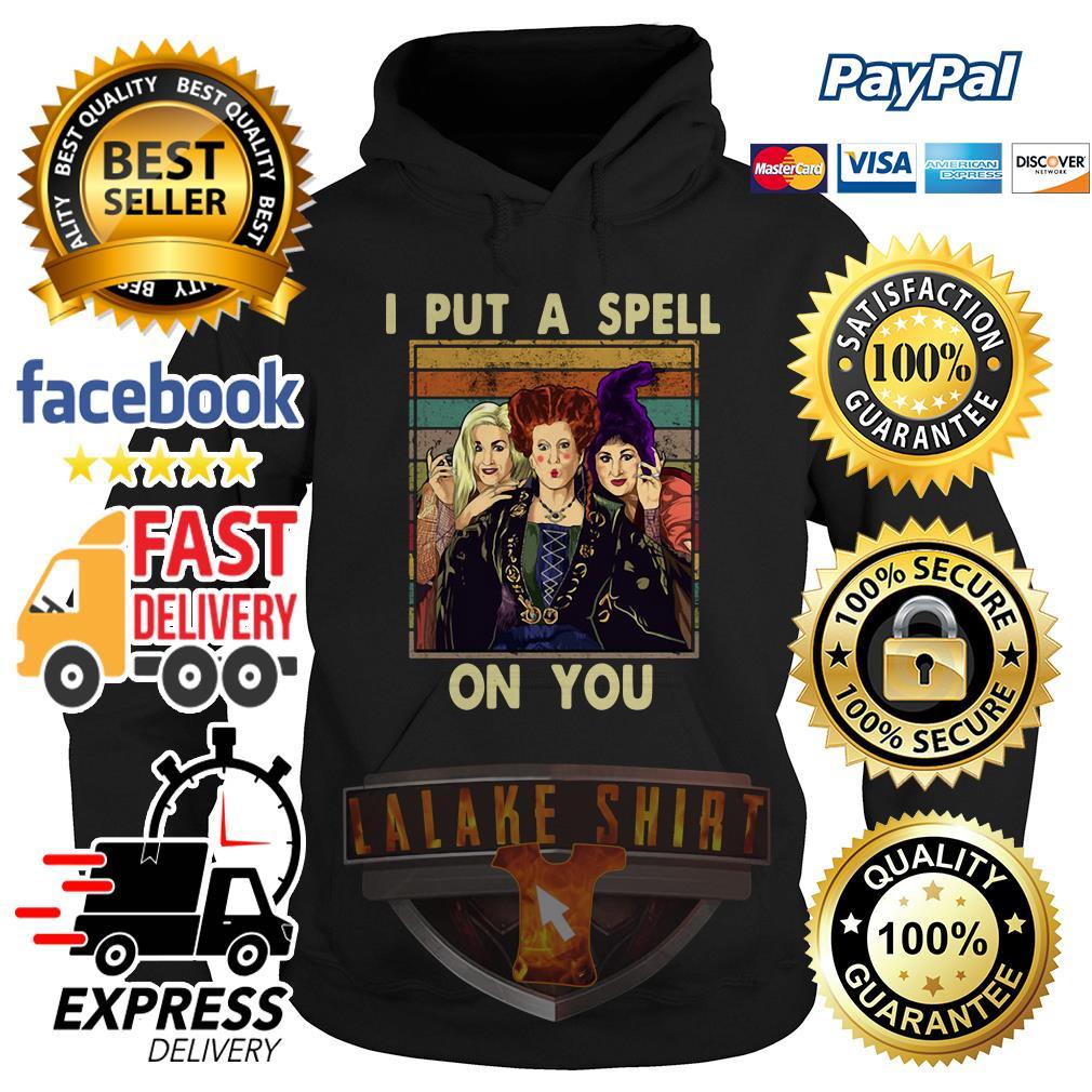 Hocus Pocus I put a spell on you vintage hoodie