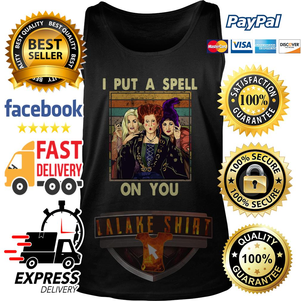 Hocus Pocus I put a spell on you vintage tank top