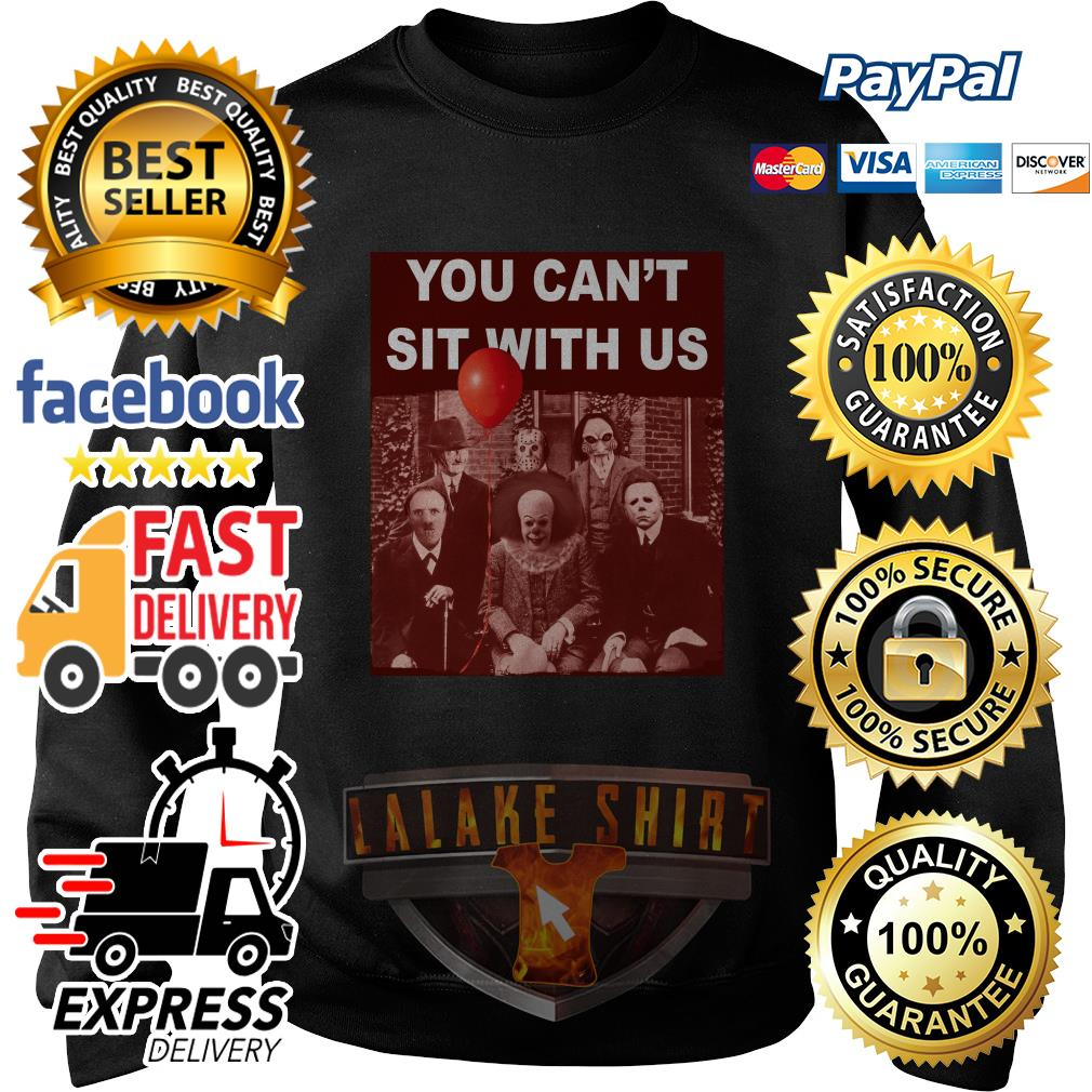 Horror character movie you can't sit with us Psychoanalysis sweater