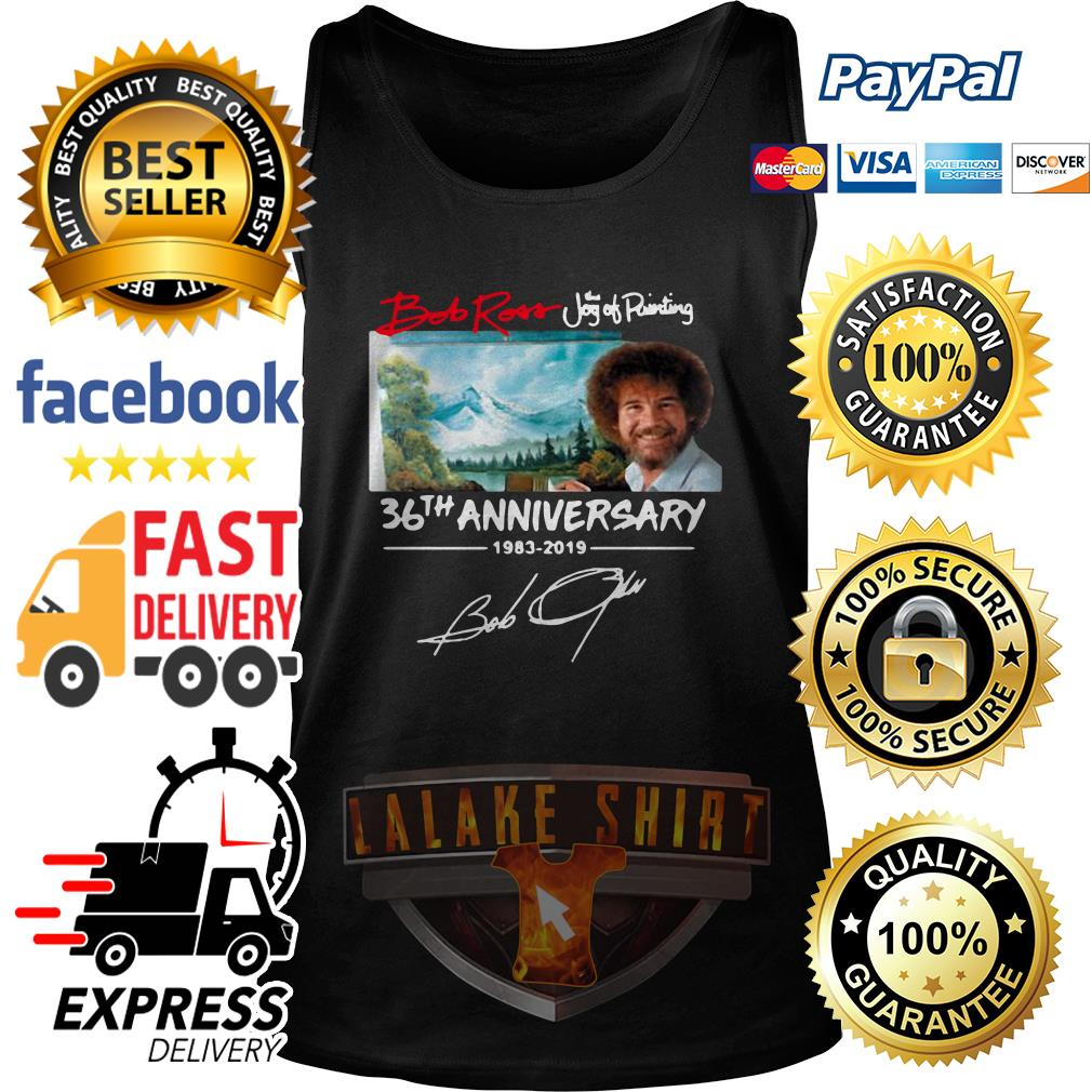 Hot Bob Ross The Joy of Painting 36th Anniversary signature tank top