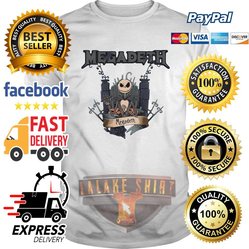 Jack Skellington Megadeth Halloween shirt